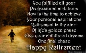 Retirement poems for boss: Happy retirement poems for boss