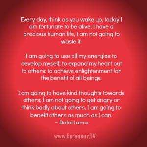 Dalai Lama Quotes On Gratitude