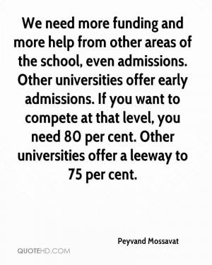 ... need 80 per cent. Other universities offer a leeway to 75 per cent