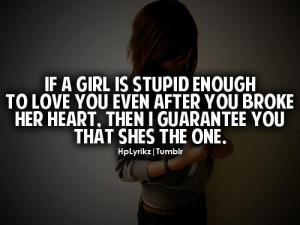 Girl stupid enough