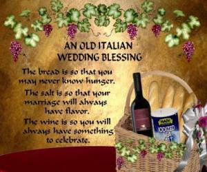 An old Italian Wedding Blessing