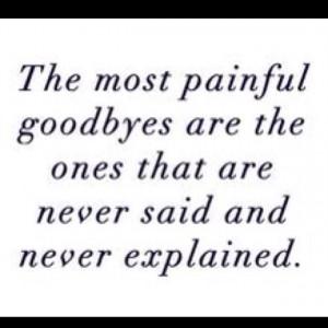 Hard goodbye