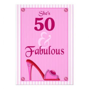 50 and Fabulous Birthday Invitations
