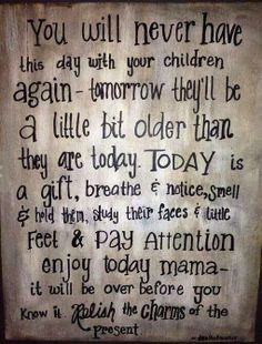 did this. No regrets. Please parents love and spend time with your ...