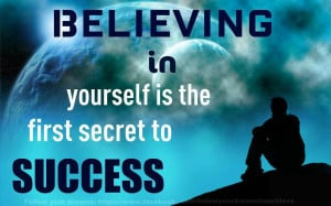 Motivational Quote Believing in yourself