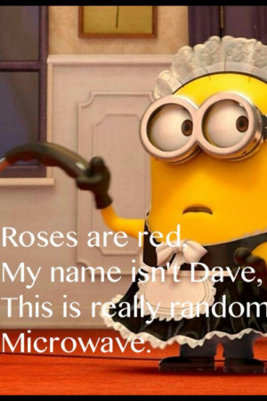 roses are red my name isn t dave this is really random microwave you ...