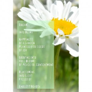 Daisy Dream Poem Inspirational Card card