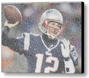 New England Patriots Tom Brady Quotes Mosaic INCREDIBLE