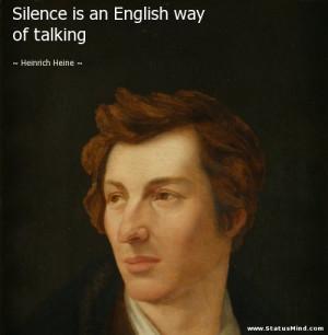 ... is an English way of talking - Heinrich Heine Quotes - StatusMind.com
