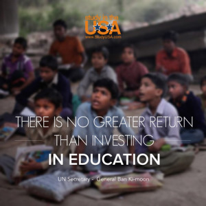 ... ban ki moon there is no greater return than investing in education ban