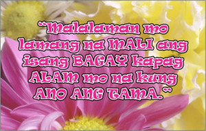 Tagalog Life Quotes - Knowing What is Right