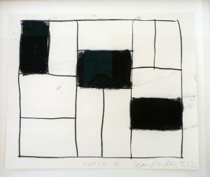 Doric 4, 2012, (charcoal on paper)