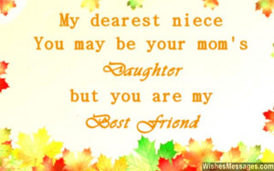 Sweet quote for nieces and aunts and uncles