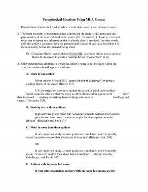 """parenthetical citation critical essay Choice of introductory or parenthetical citation is often a matter of readability, emphasis and authority as noted in the ib position paper http://blogsiboorg/ positionpapers/files/2013/02/academic-honesty- in-the-ibpdf author– date carroll reminds us that """"deliberate breaches form a relatively small proportion of."""