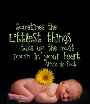 Pooh Quote Vinyl Lettering - Vinyl Decal -Great for a baby boy or girl ...
