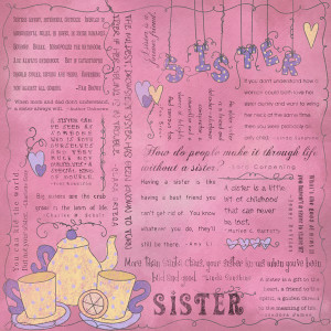 ... gift idea for your sister as it describes your inner most love for her