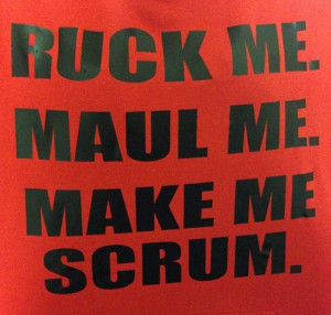 Again and again. Making rugby love...