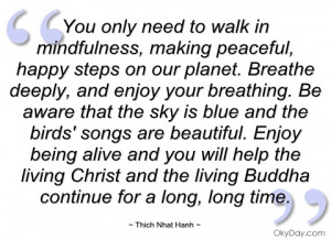 Mindfulness Quotes Thich Nhat Hanh Thich nhat hanh