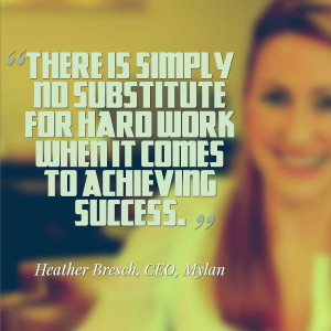 ... work when it comes to success.