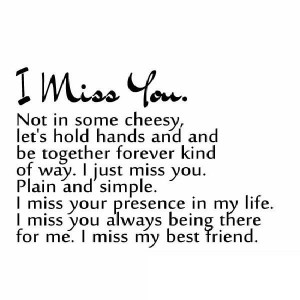 Missing My Best Friend Quotes