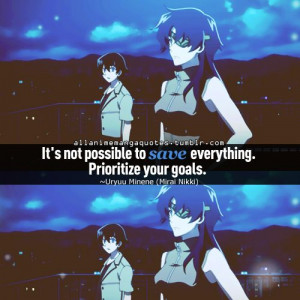 The Future Diary quote   Another/The Future Diary   Pinterest