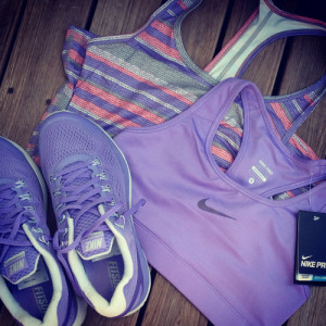 nike purple fitness workout gear