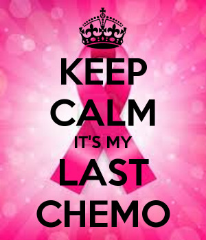 KEEP CALM IT'S MY LAST CHEMO