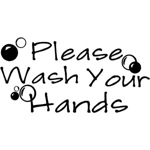 Wash your hands MOM funny cute vinyl wall decal quotes sayings art ...