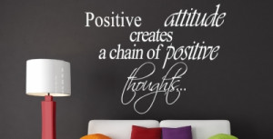 vinyl wall positive attitude quotes for work