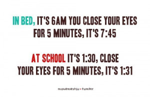 bed, close, eyes, images, makemestfu, minutes, quote, school ...