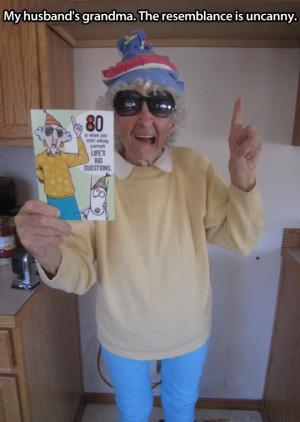 Crazy granny