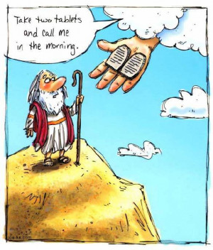 ... ten commandments, funny bible picture, funny christian cartoon, quote