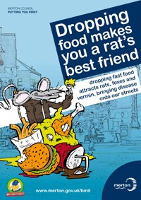 Dropping litter makes you a rat's best friend poster