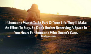Life Quotes | Someone Who Doesn't Care Couple hug sun set garden