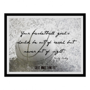 ... an inspirational basketball quote for player, coach and team
