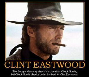 Clint Eastwood vs Chuck Norris: The boogie man may check his closet ...