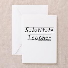 Substitute Teacher Greeting Cards (Pk of 10) for