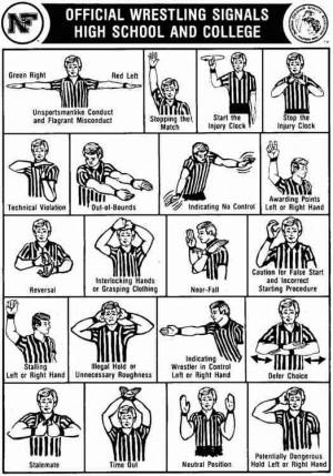 Officials Wrestling Signals