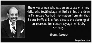 man who was an associate of jimmy Hoffa, who testified against Hoffa ...