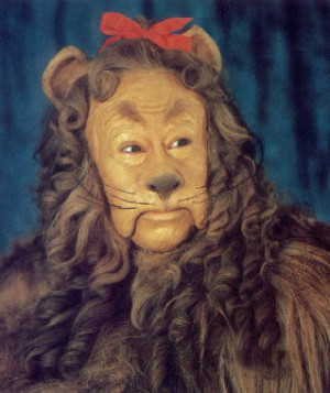 Wizard of OZ cowardly lion