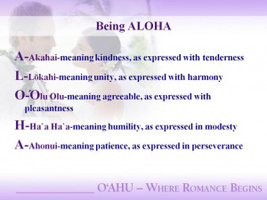 The true meaning of ALOHA