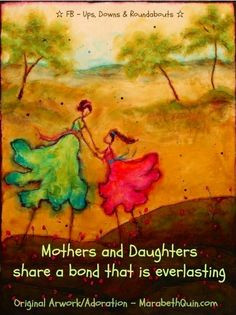 mothers and daughters share an everlasting bond quote via www facebook ...
