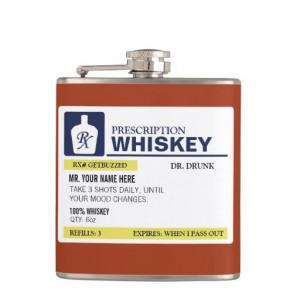 Funny Prescription Whiskey Hip Flask