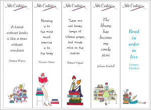 Five quirky book marks with quotes on reading and books. Better than a ...