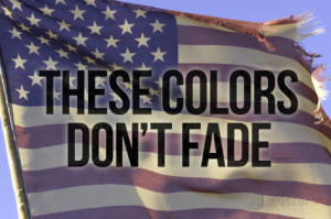 These Colors Dont Fade American Flag Motivational Photo Poster Premium ...