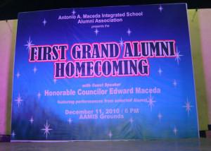 First Grand Alumni Homecoming.