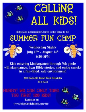 Register for Summer Fun Camp