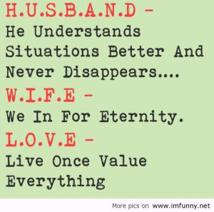 Husband Wife quote / Funny Pictures, Funny Quotes – Photos, Quotes ...