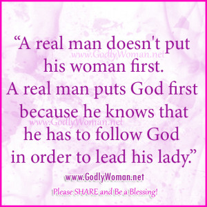 real man puts God first
