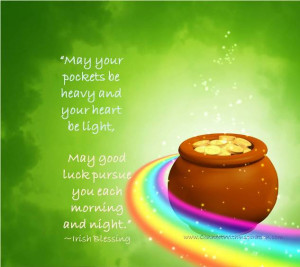 St Patrick Day Quote, Inspirational Quote, Good Luck Pursue You